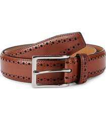 cole haan men's perforated leather belt - tan - size 38