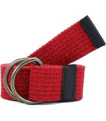 cinturón rojo-negro colore