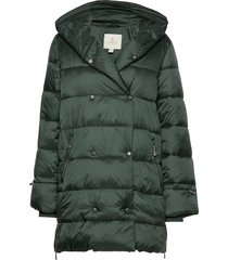 jacket outerwear heavy gevoerde lange jas groen brandtex