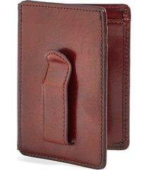 men's bosca old leather front pocket id wallet - brown