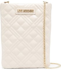 love moschino quilted phone case bag - neutrals
