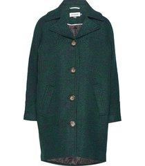 dhcanyon wool coat wollen jas lange jas groen denim hunter