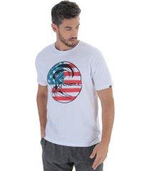 camiseta o'neill old glory - masculina - branco