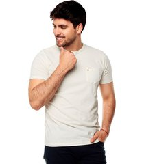 camiseta color siete para hombre - blanco