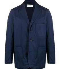 universal works single-breasted shirt blazer - blue