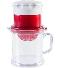 espremedor brinox de frutas process incolor/vermelho - tricae