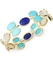 18k yellow gold & multi-stone bracelet
