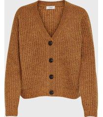 sweater  jacqueline de yong camel - calce regular