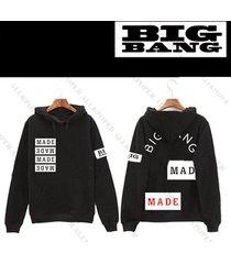 kpop bigbang made full cap hoodie gd coat unisex g-dragon sweater sweatershirt