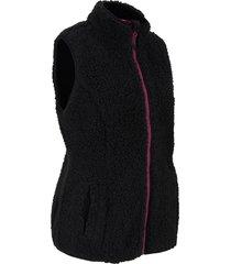 gilet moderno in pellicciotto di pile (nero) - bpc bonprix collection