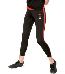 leggings negro-rojo adidas performance own the run