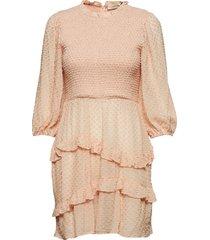 harper smock dress knälång klänning rosa mayla stockholm