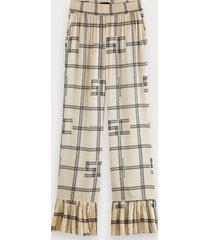 scotch & soda high-rise broek in pyjamastijl met print