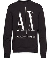 ax man sweatshirt sweat-shirt tröja svart armani exchange