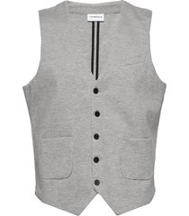 superflex knitted waistcoat kostymväst grå lindbergh