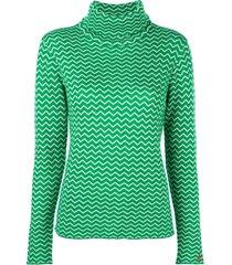 perfect moment suéter zig zag - verde