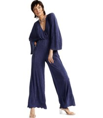 inc textured cinched-waist jumpsuit, created for macy's