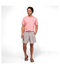 pijama manga curta masculino meia malha mensageiro dos sonhos confort camiseta cor rosa