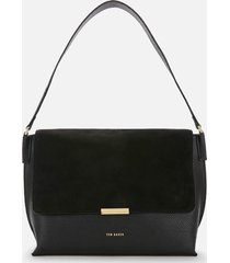 ted baker women's louissa suede bar detail shoulder bag - black