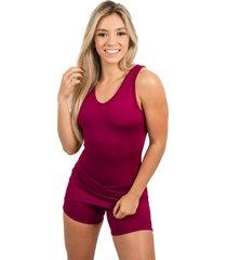 macaquinho 4 estações academia esporte curto liso feminino saia fitness curto vinho