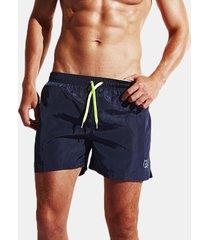 pantaloncini da tennis ad asciugatura rapida da uomo pantaloncini da spiaggia da spiaggia con coulisse in vita elastica pantaloncini sportivi casual estivi