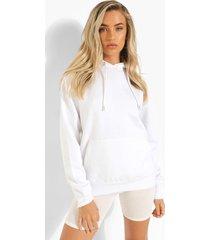 gerecyclede overhead hoodie, white