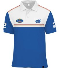 camisa polo fórmula retrô williams rothmans ano 1994 azul