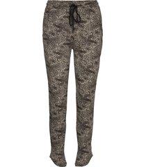 petra pants grey pyjamasbyxor mjukisbyxor brun underprotection