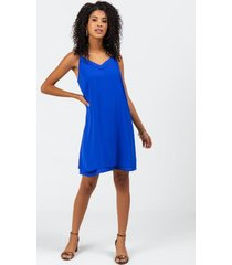 aria lurex double layer dress - blue