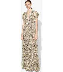 proenza schouler abstract animal print maxi dress butter/black abstract animal/yellow 6