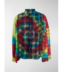 needles multi-check tie-dye shirt