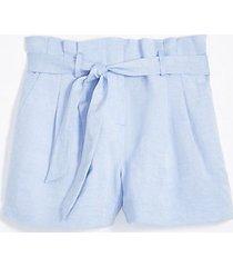 loft linen blend tie waist shorts