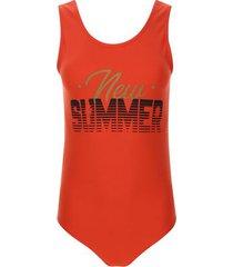 body summer color naranja, talla 10
