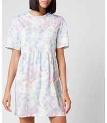 olivia rubin women's roxie dress - pastel tie dye - l