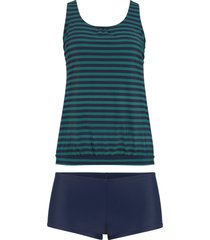 tankini oversize (set 2 pezzi) (verde) - bpc bonprix collection
