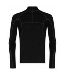 heliot emil camiseta mangas longas com pesponto contrastante - preto