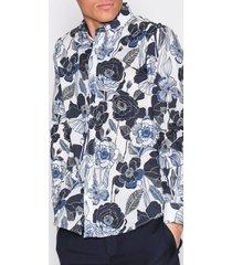 selected homme shxonechaser shirt ls aop skjortor vit