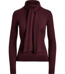 cashmere tie-neck sweater
