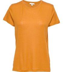 upama t-shirts & tops short-sleeved oranje dagmar