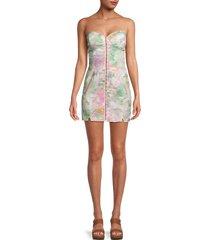 for love & lemons women's smythe tie-dye mini dress - multicolor tie dye - size xs