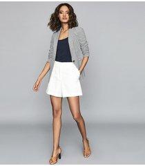 reiss carley - jacquard blazer in pale blue, womens, size 12