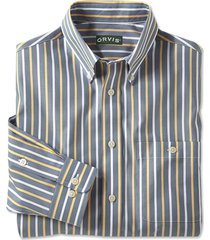 wrinkle-free pinpoint stripe shirt, xl