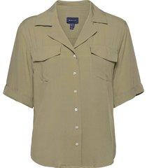 d2. lightweight safari shirt overhemd met korte mouwen groen gant