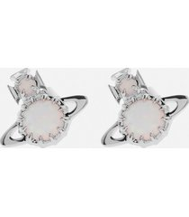 vivienne westwood women's latifah earrings - rhodium white
