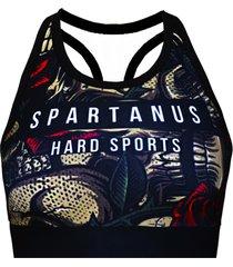 top draw spartanus fightwear preto