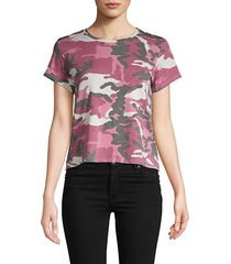 camouflage-print roundneck tee