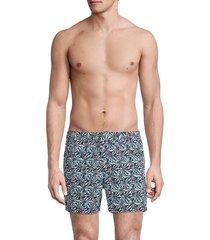 john varvatos men's malibu swim trunks - black - size 32