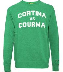 cortina vs courma green mans sweater