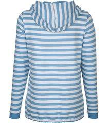 sweatshirt dress in ljusblå::vit
