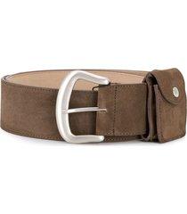 marc jacobs casual plain belt - brown